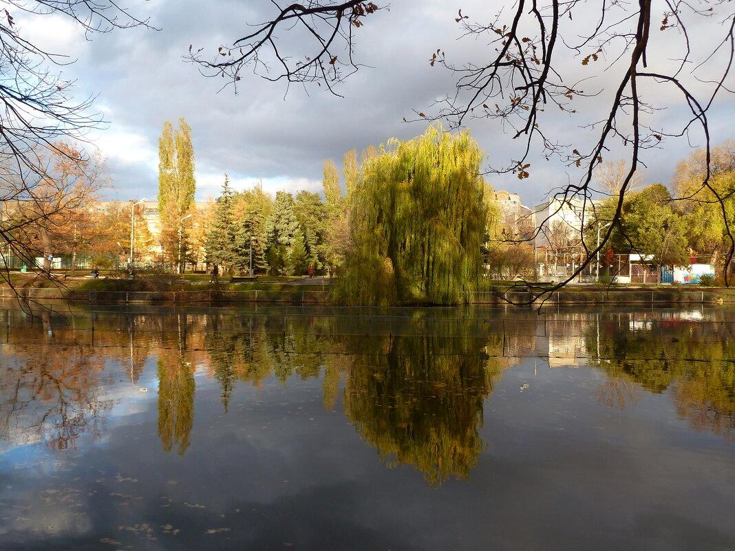 Картина поздней осени в парке - Лидия Бараблина