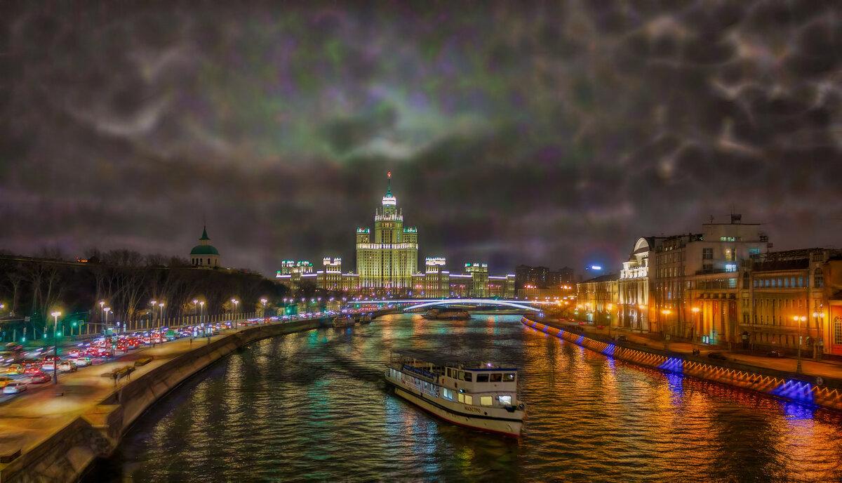 Вечер..  Ноябрь. Москва-река - Вера Лучникова