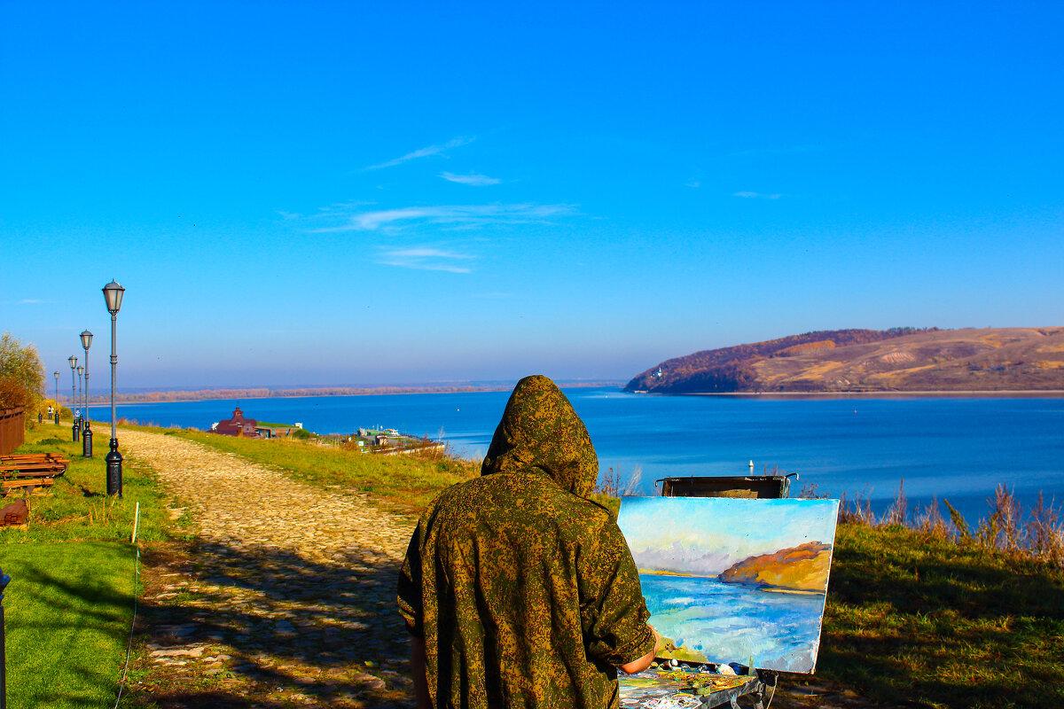 Пейзаж на фоне портрета - Сергей Осин