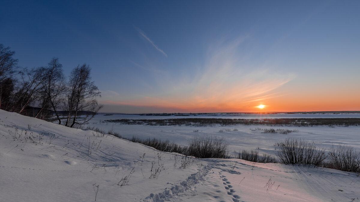 Февральский закат - Сергей Добрыднев
