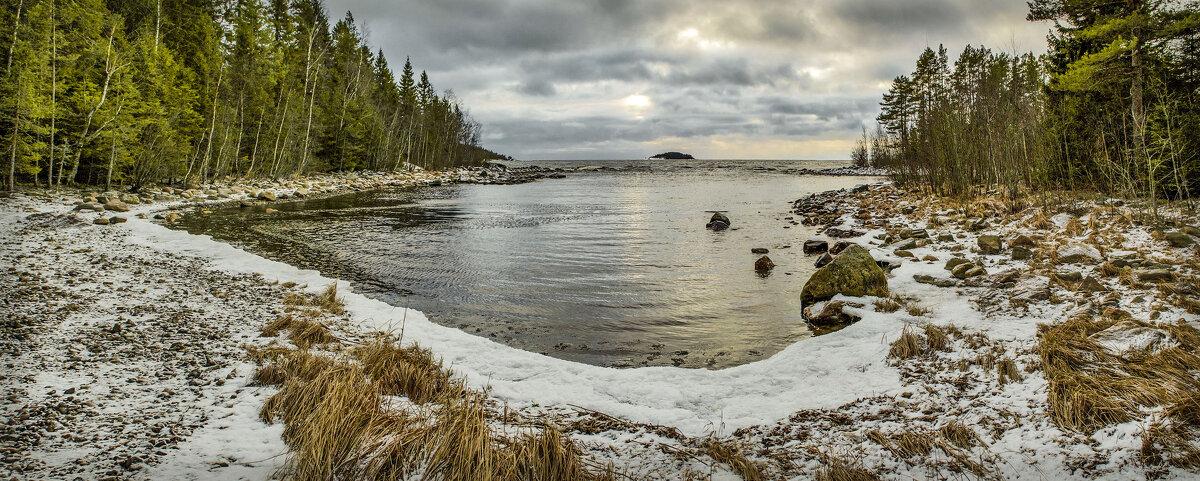 Панорама хмурого зимнего дня - Андрей Бобин