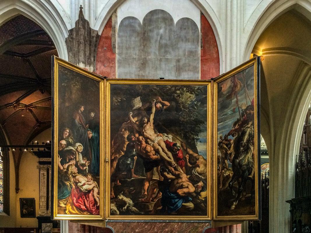 Картина Рубенса «Воздвижение Креста» в Соборе Антверпенской богоматери - Eldar Baykiev