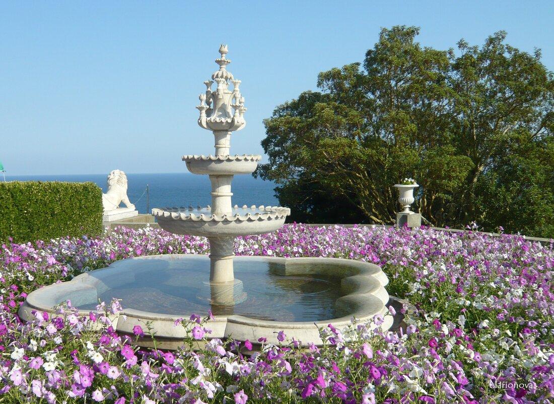 Пейзаж с фонтаном - Татьяна Ларионова