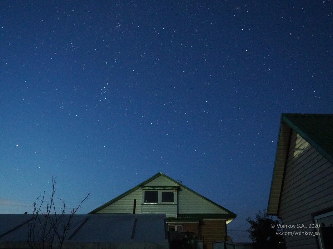 Ночное небо в сельском дворе - Сергей Воинков