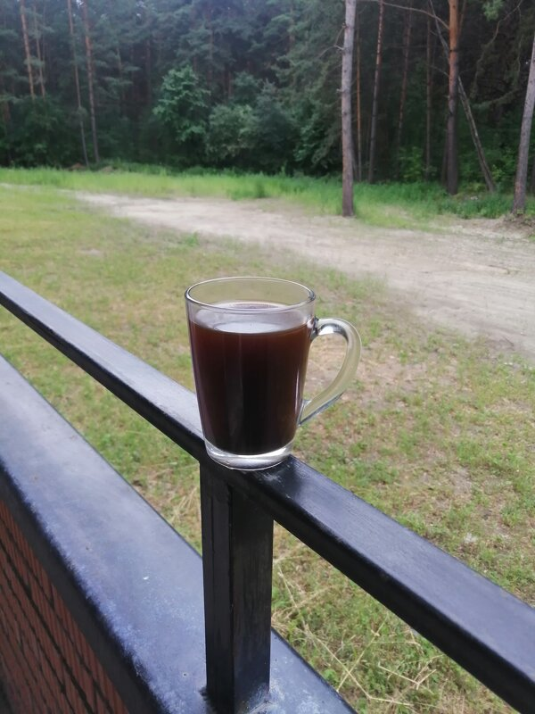 Кофе на балконе  в сосновом бору. - ОКСАНА ЮРЬЕВНА ШВЕЦ