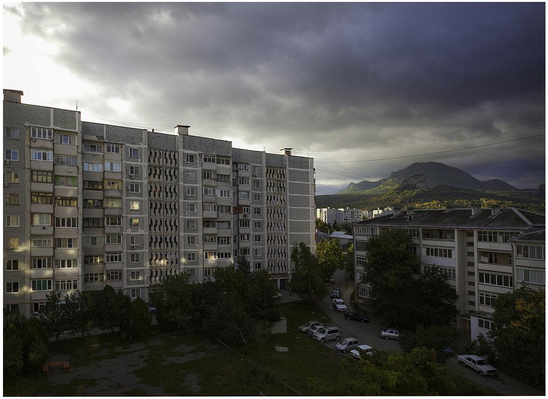Двор с утра ... - Владимир КРИВЕНКО