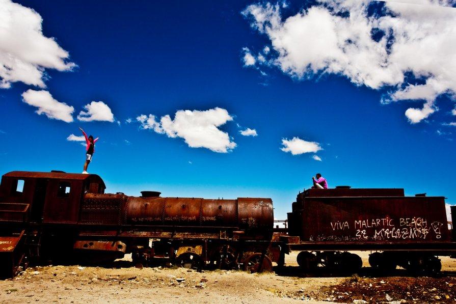 Боливия 2012, Уюни, Кладбище паровозов - Олег Трифонов