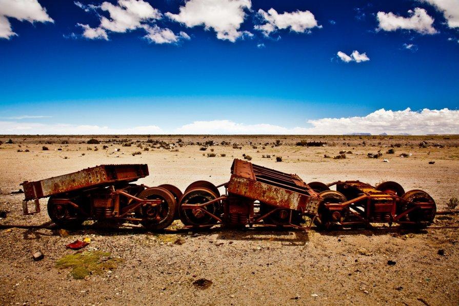 Боливия 2012, Уюни, Кладбище паровозов, - Олег Трифонов