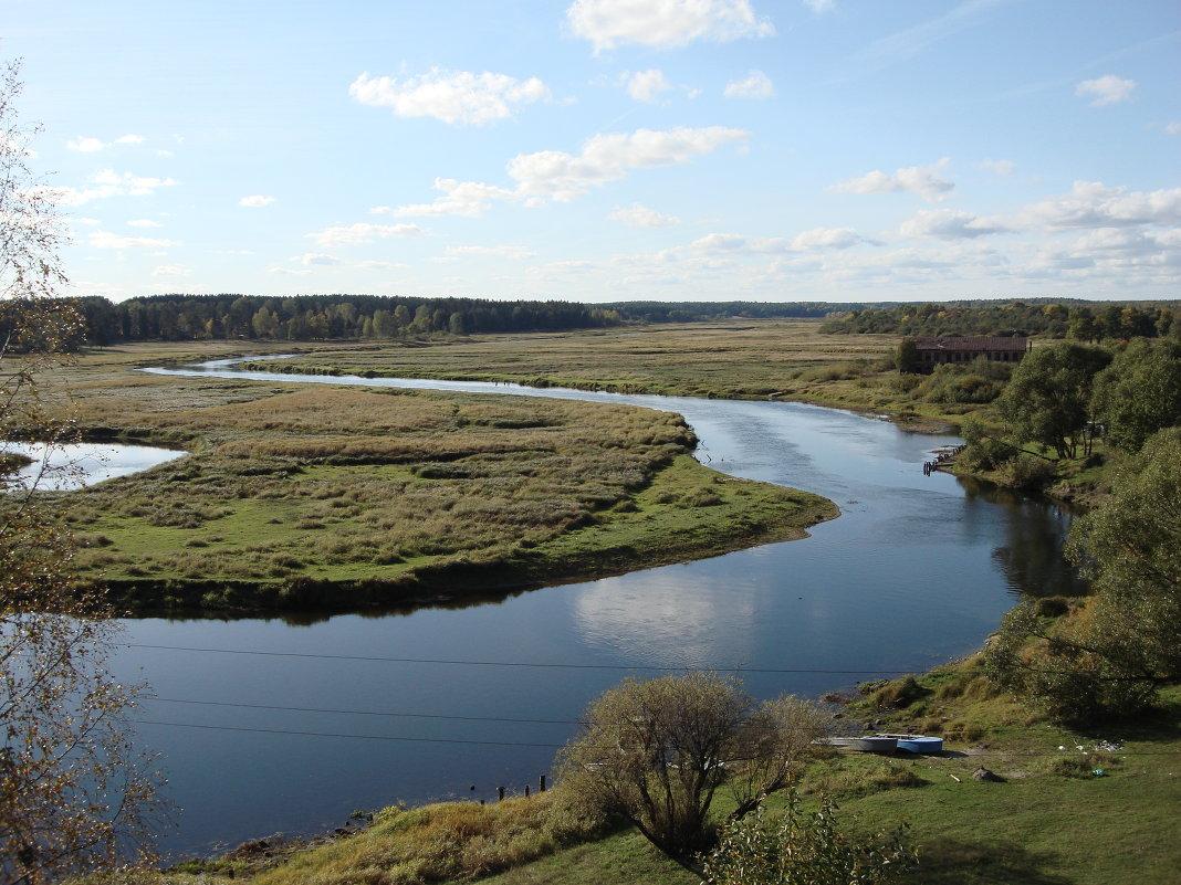 рыбалка нате реке луга во  районе толмачева