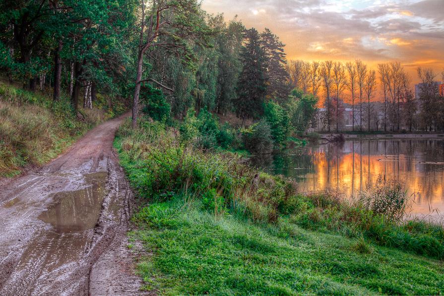 Утро возле плотины - Юлия Холодкова