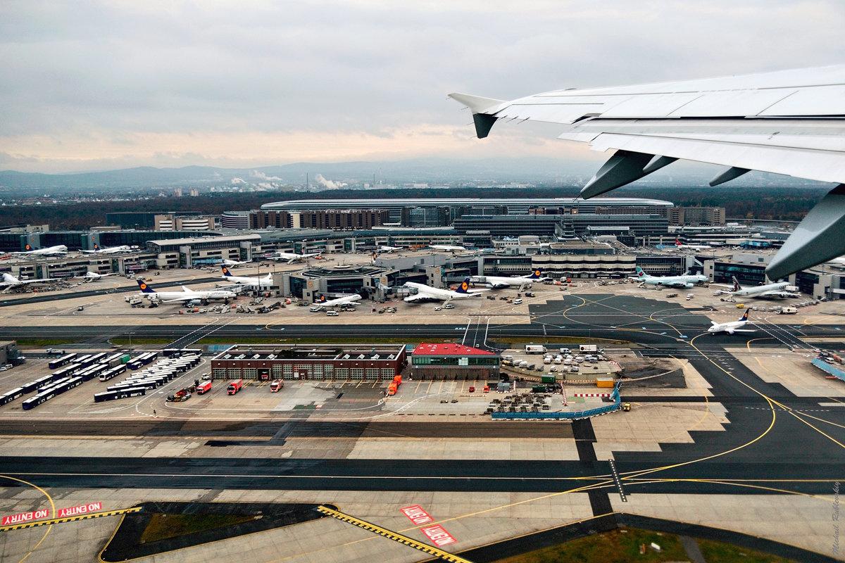 Фото с самолета Франкфурт на майне
