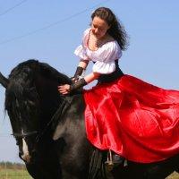Дева на лошади :: Валентина Кондратова