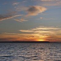 Закат на Учинском водохранилище.Август :: Валентина Писаревская