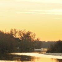 Закат на реке Любич :: Roman Globa