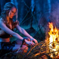 У огня :: Александра КЕЙЛИ Макарова