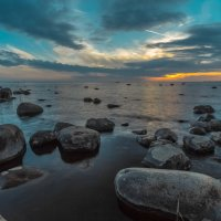 Закат на Финском заливе,СПб. :: Денис Алексеенков