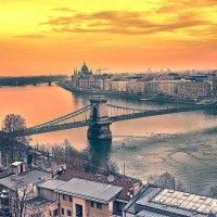 Будапешт в лучах заката :: Виталий Сидоренко