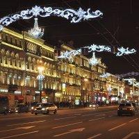 Новогодняя ночь в Санкт- Петербурге :: Марина Волкова
