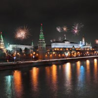 моя столица ночная москва(салют над москвой) :: юрий макаров