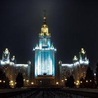 моя столица ночная москва(здание мгу) :: юрий макаров