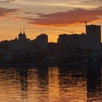 Воронеж.Панорама правого берега на закате :: Евгений Каган
