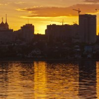 Воронеж. Вид на правый берег на закате :: Евгений Каган
