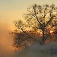 Мороз... Закат на Пехорке :: Olenka