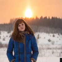 Морозный закат :: Елена Марченко