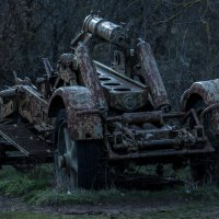 Немецкое орудие во времена 2-йо мировой. :: Виталий Близень