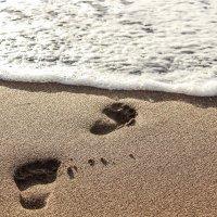 Следы на песке :: Эллина Филиппенкова