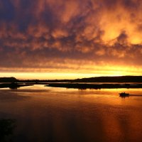 Закат на Соку после дождя :: Валерий Князькин