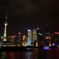 Шанхай в свете ночных огней. :: Полина Polli