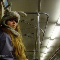 Зайчик ... в  метро :: Игорь Пляскин