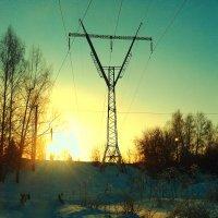 Закат зимой тоже бывает красив... :: Мария К.