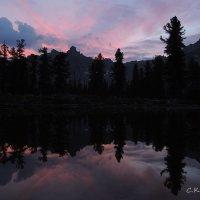 Закат на озере Тёплое :: Сергей Карцев