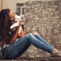 Люблю тебя, кот! :) :: Gulfiya Sunny photos