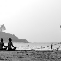 Утро на берегу Индийского океана :: Олег Вайднер