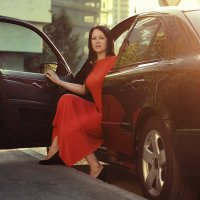 Girl in the car :: Ольга Никитина