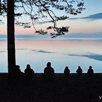 Медитация на озере, вечер. :: Виктор Истомин