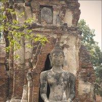 Статуя  будды у храма Wat Phra Si Sanphet (XIV век) :: Людмила Шустова