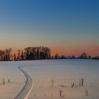 Картинка деревенская... зимне-вечерняя... :: Александр Никитинский