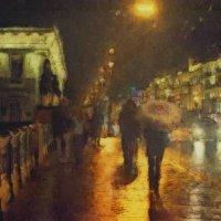 ..в городе дождь.. :: Галина Юняева