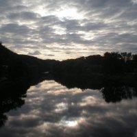 Осенний вечер  над Северским Донцом :: Татьяна Пальчикова