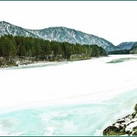 Катунь,белый снег и голубой лед. :: Владимир Михайлович Дадочкин