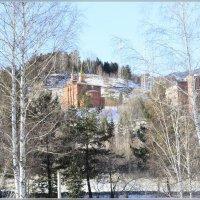 Зимний пейзаж с церковью :: galina tihonova