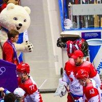 Миша на хоккее :: Дмитрий Тарнавский