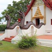 Таиланд, окрестности Бангкока, грозные Наги охраняют храм :: Владимир Шибинский