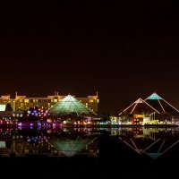 Moody Gardens Pyramids :: Vic Noon