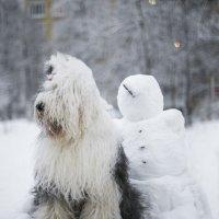 Мышь и снеговик :: Лариса Батурова