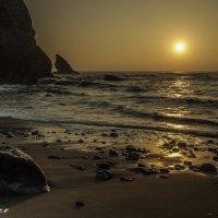 Sunset Adraga Beach. Portugal :: Yuriy Rogov